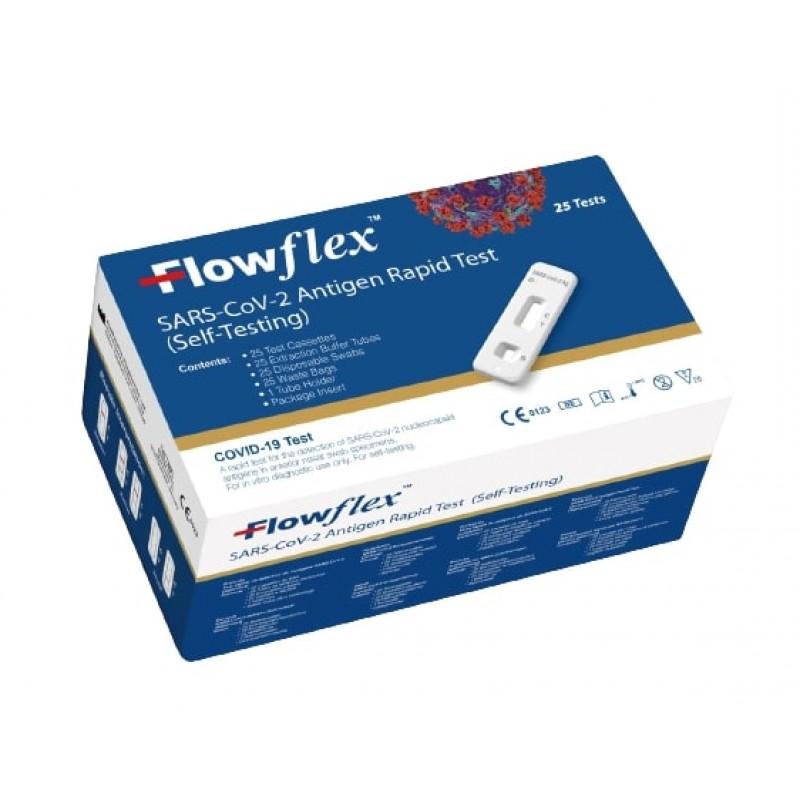 FLOWFLEX SARS-COV-2 ANTIGEN RAPID TEST KIT 25 BOX MULTIKIT