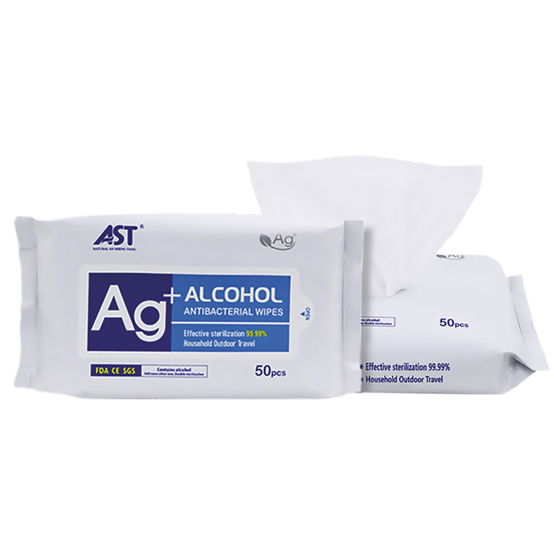 ALCOHOL ANTIBACTERIAL WET WIPES PACK 50